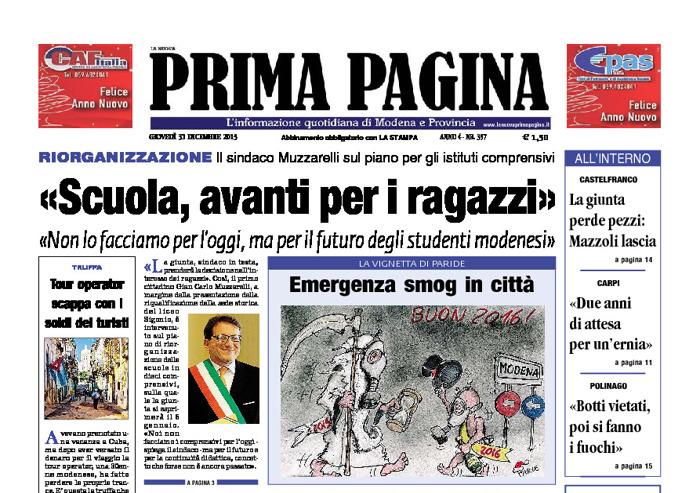 Prima Pagina - Giovedì 31 Dicembre 2015