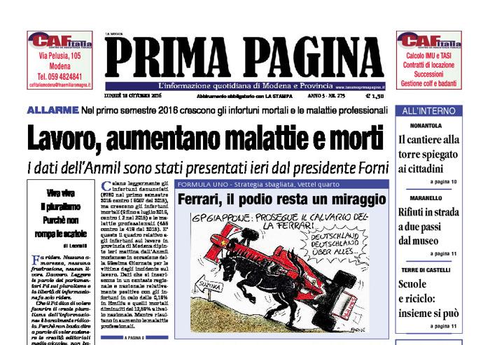 Prima Pagina - Lunedì 10 Ottobre 2016