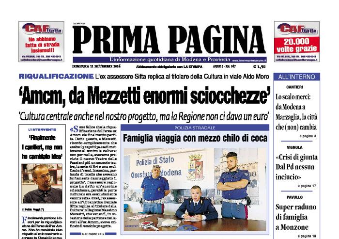 Prima Pagina - Domenica 11 Settembre 2016