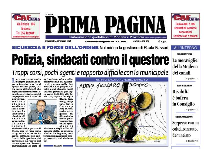 Prima Pagina - Venerdì 14 Ottobre 2016