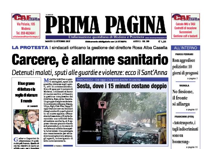Prima Pagina - Sabato 15 Ottobre 2016