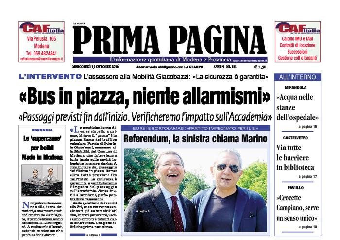 Prima Pagina - Mercoledì 19 Ottobre 2016