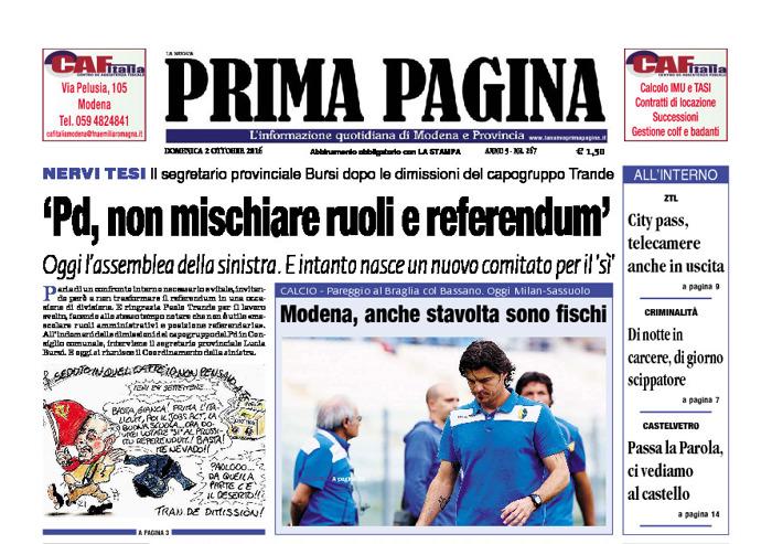 Prima Pagina - Domenica 2 Ottobre 2016
