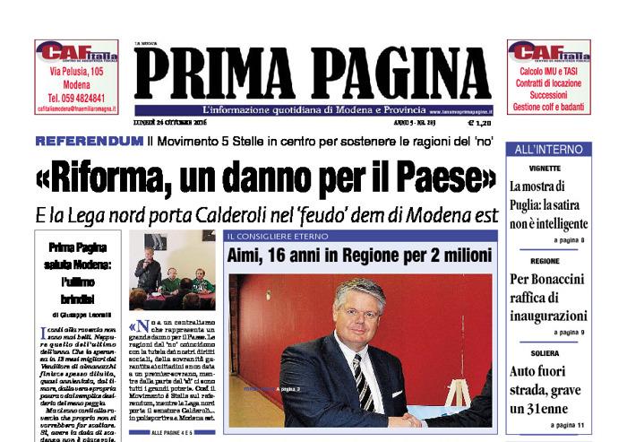 Prima Pagina - Lunedì 24 Ottobre 2016
