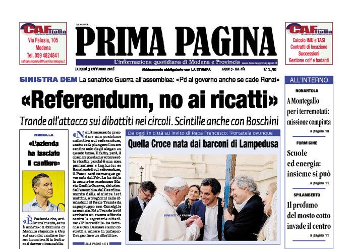 Prima Pagina - Lunedì 3 Ottobre 2016