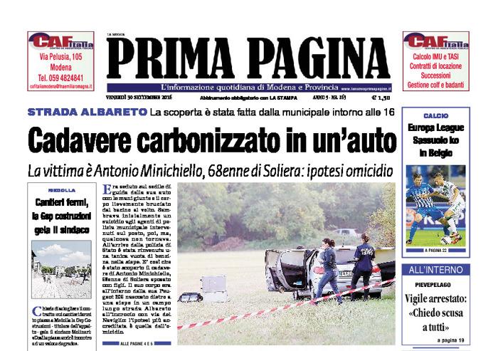 Prima Pagina - Venerdì 30 Settembre 2016