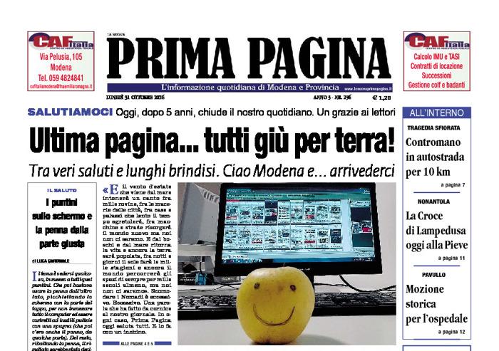 Prima Pagina - Lunedì 31 Ottobre 2016