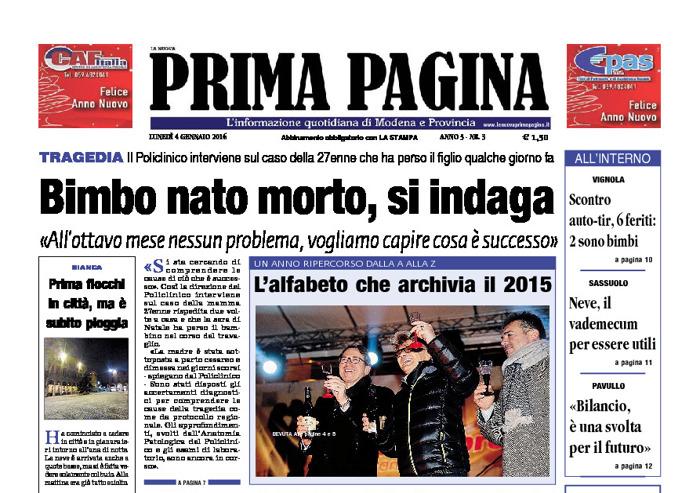 Prima Pagina - Lunedì 4 Gennaio 2016