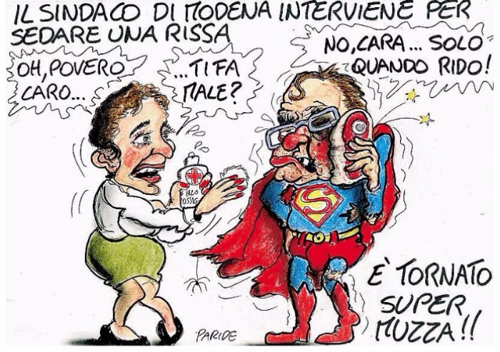 Muzzarelli come superman