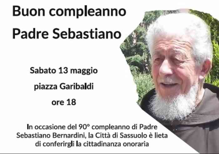 Sassuolo, buon compleanno padre Sebastiano