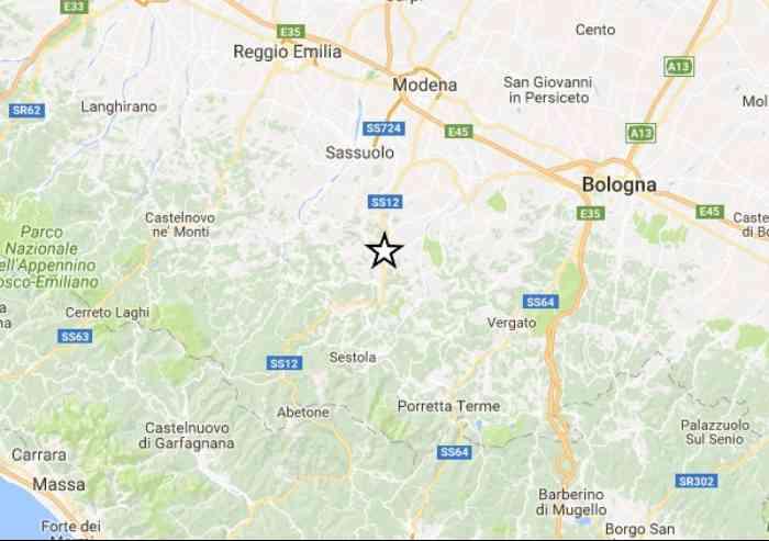 Terremoto di magnitudo 2.8 a Pavullo