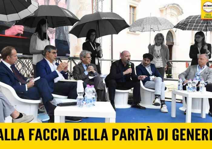 'Bonaccini usa le donne per ripararsi dalla pioggia'