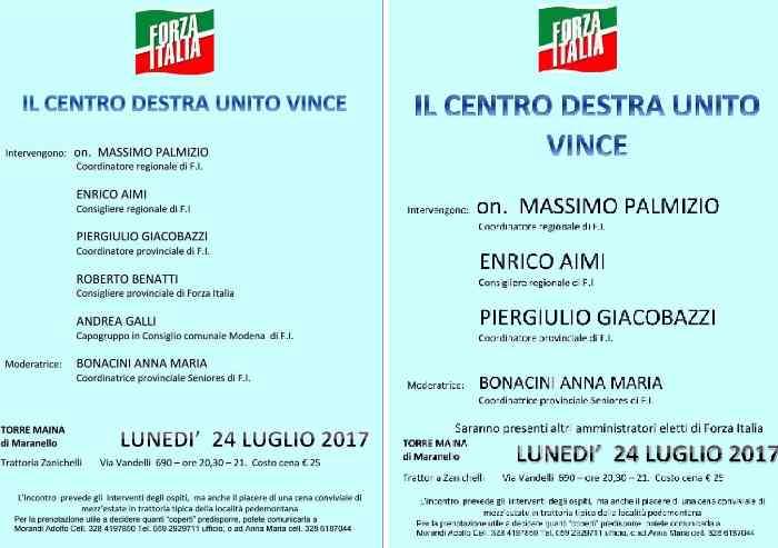 Forza Italia Modena: 'Uniti si vince'. Poi corregge il volantino e ufficializza la spaccatura