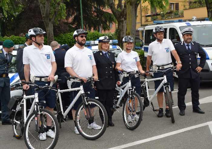 A Castelfranco Polizia Municipale in bicicletta per un più capillare controllo del territorio