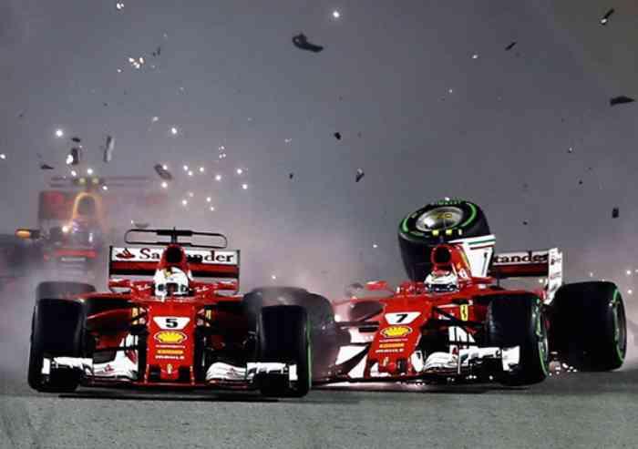 Ferrari fuori subito a Singapore, Hamilton mette il cappello sul mondiale