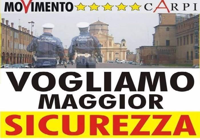 Sicurezza, la raccolta firme del M5S Carpi, Soliera e Campogalliano