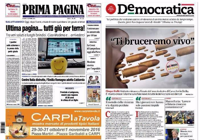 Un anno fa chiudeva Prima Pagina: Piacentini fallisce e diventa editore Pd