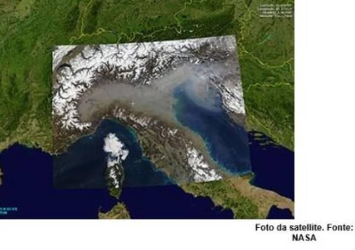 Pianura Padana, ecco le mappe del disastro smog