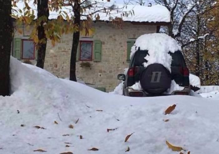 Famiglia isolata dalla neve a Pavullo, raggiunta dai Vigili del Fuoco
