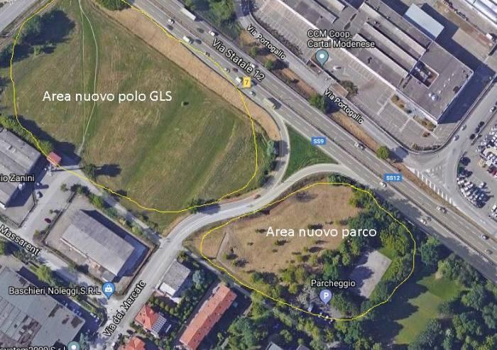 Area GLS, permuta impossibile, ma a fianco ci sarà un parco al posto di un palazzo