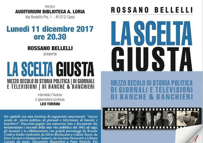 La Scelta giusta, Bellelli presenta il suo libro