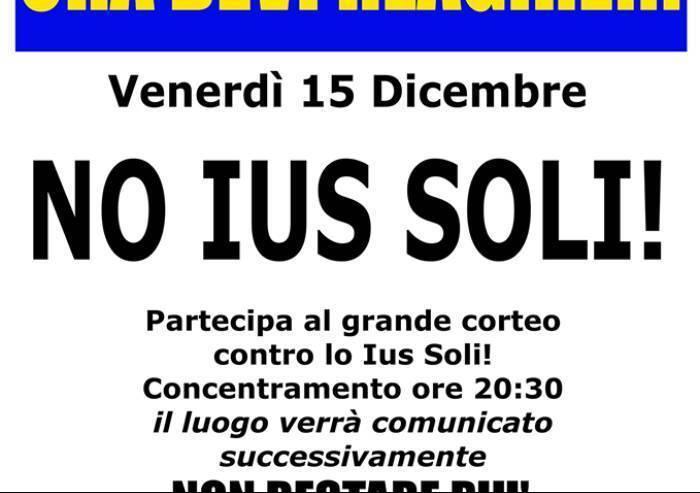 No allo Ius soli, la manifestazione del 15 dicembre si farà