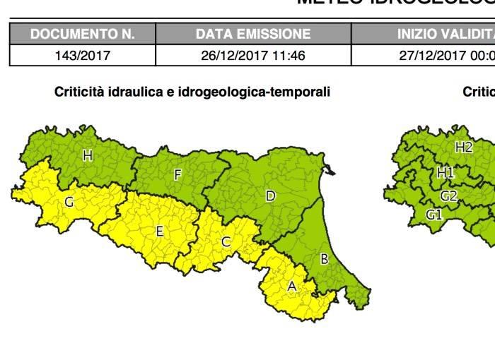 Lazio, allerta meteo dal 27 dicembre: in arrivo forti temporali