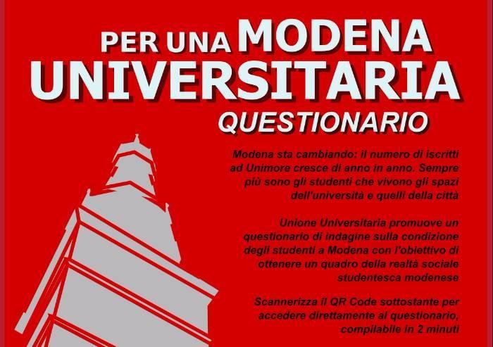 Modena città universitaria, Udu lancia un sondaggio