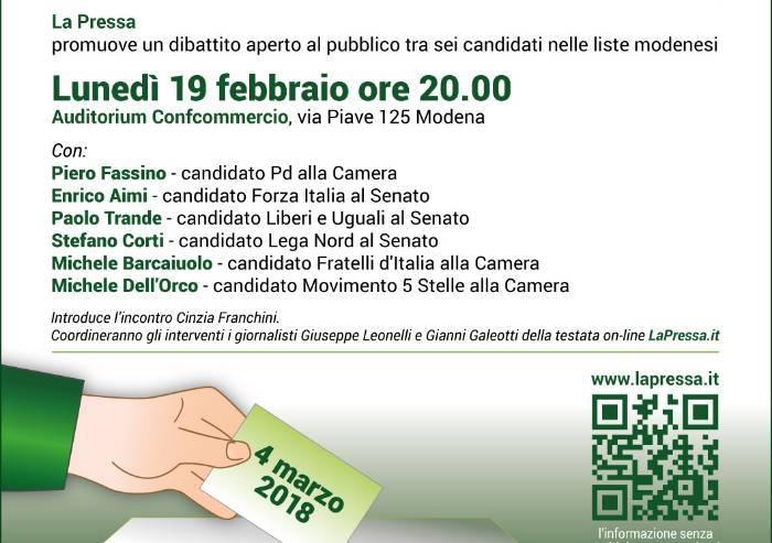 Confronto elettorale: il 19 febbraio il dibattito promosso da La Pressa