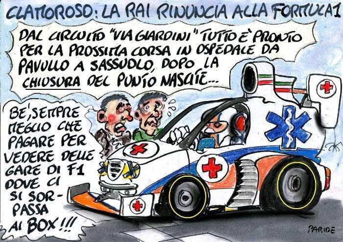 Punto nascite chiuso e ambulanze da Formula 1