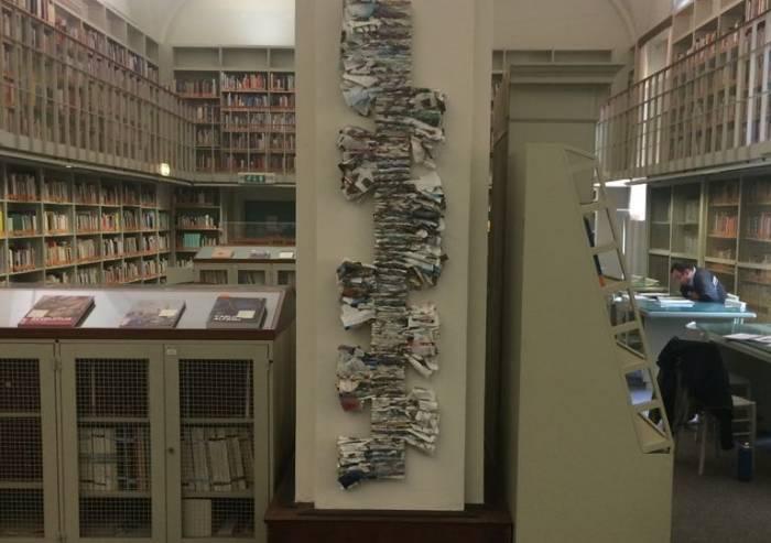 Biblioteca Poletti, due donazioni e una nuova installazione artistica