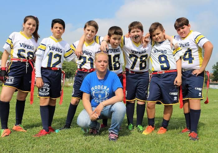 Football americano giovani, i piccoli Vipers crescono