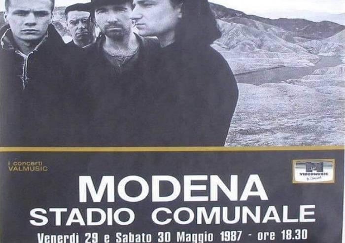 Trentuno anni fa la due giorni di U2 a Modena