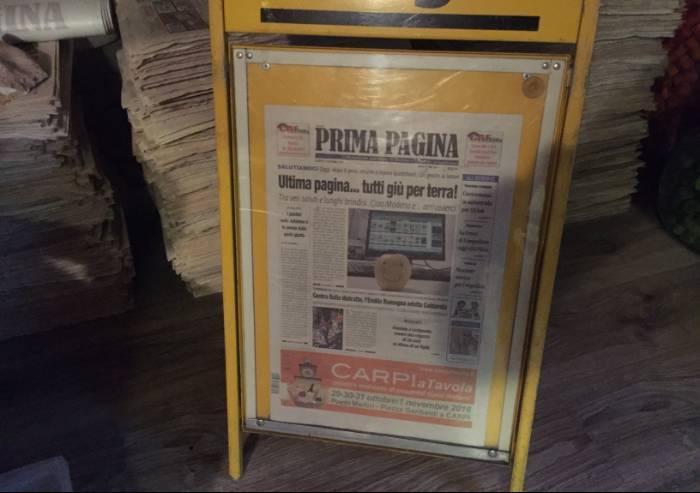 Due anni fa addio a Prima Pagina: un giornale chiuso come un bar