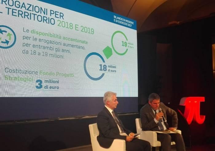 Fondazione CRMO, nel 2017 calano i progetti, non i soldi: 39 mln congelati sul S.Agostino