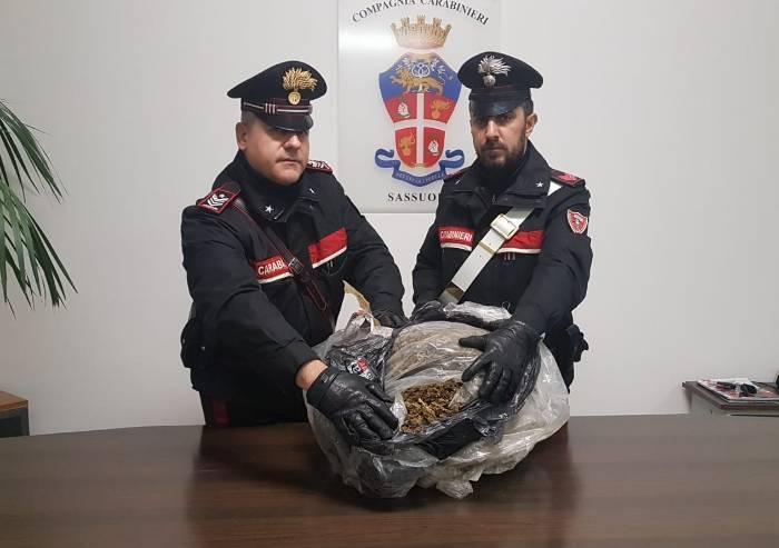 Fiorano, un sacco da 8 kg di droga trovato in campagna