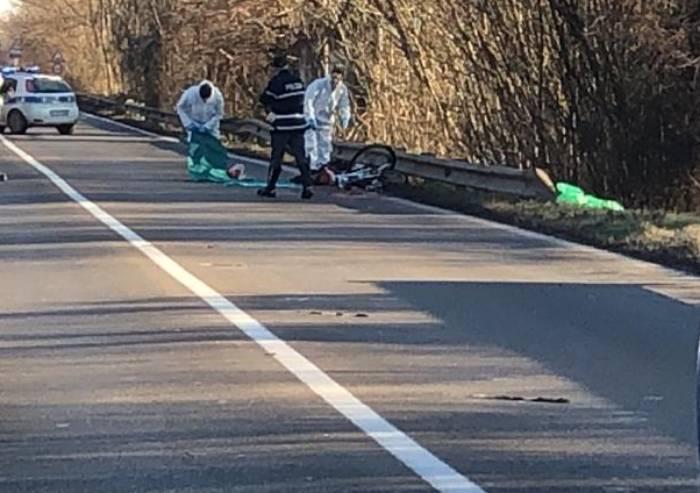 Ciclista ucciso da mezzo pirata: corpo smembrato su via Emilia Est