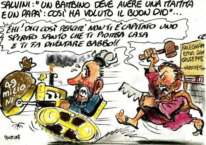 Salvini: 'La mamma e il babbo'
