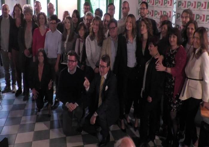 Bortolamasi e Muzzarelli presentano la lista PD, parlando di Lega