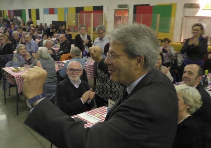 Gentiloni torna a Modena: 'Qui non c'è alternativa al PD'
