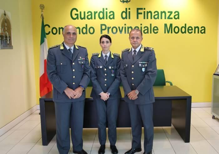 Guardia Finanza di Modena, prima donna alla guida del Reparto