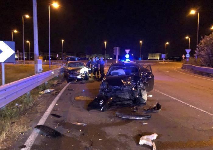 Nonantola, scontro tra due auto, due feriti