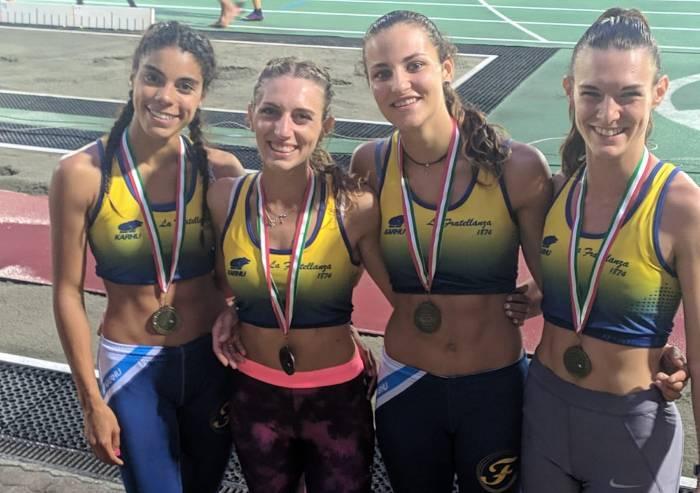 Campionati italiani assoluti, staffette gialloblù sul podio