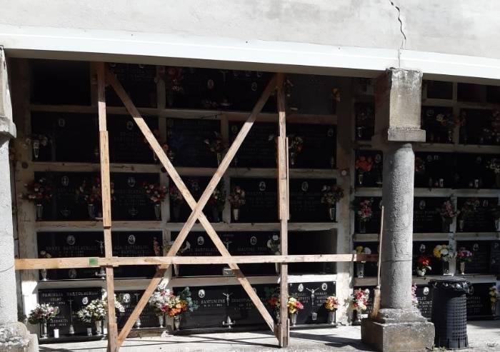 Serramazzoni, il cimitero di Ligorzano a rischio crollo