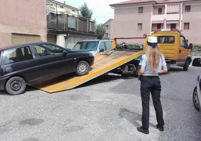 San Felice, Medolla e Mirandola: rimosse auto e moto abbandonate