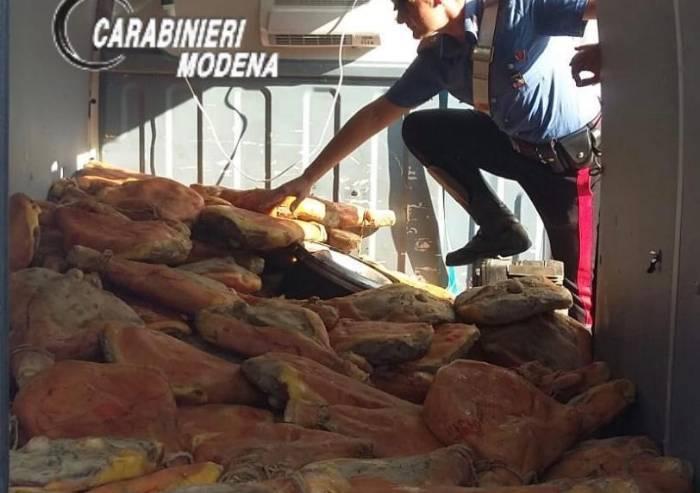 Carpi, rubano 250 prosciutti, individuati dai Carabinieri