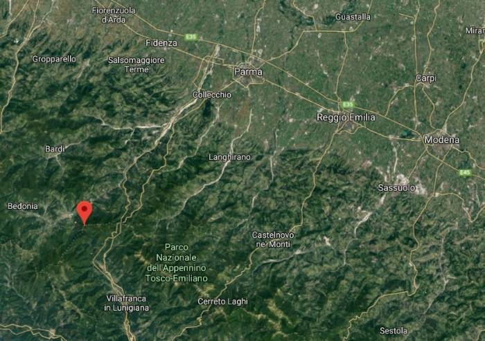 Terremoto di magnitudo 3.9 sull'appennino parmense