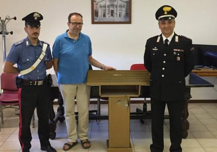 Offertorio rubato a San Damaso trovato in un parcheggio a Modena