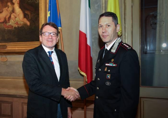 Sicurezza, nuovo comandante dei carabinieri ha incontrato Muzzarelli