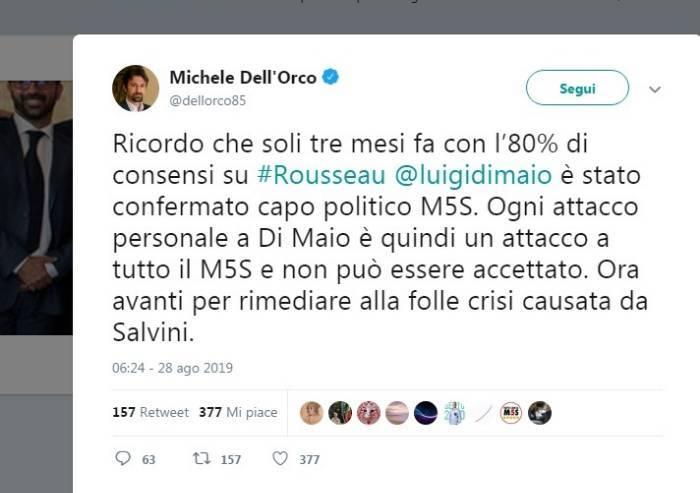 Dell'Orco: 'Ora rimediamo alla folle crisi creata da Salvini'